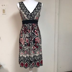 Dresses & Skirts - NWTBlack, cream, and red dress with belt so cute!!